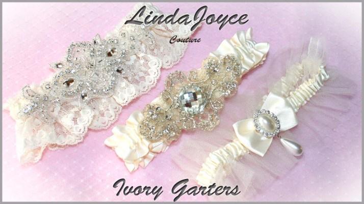 Ivory Wedding & Bridal Garters